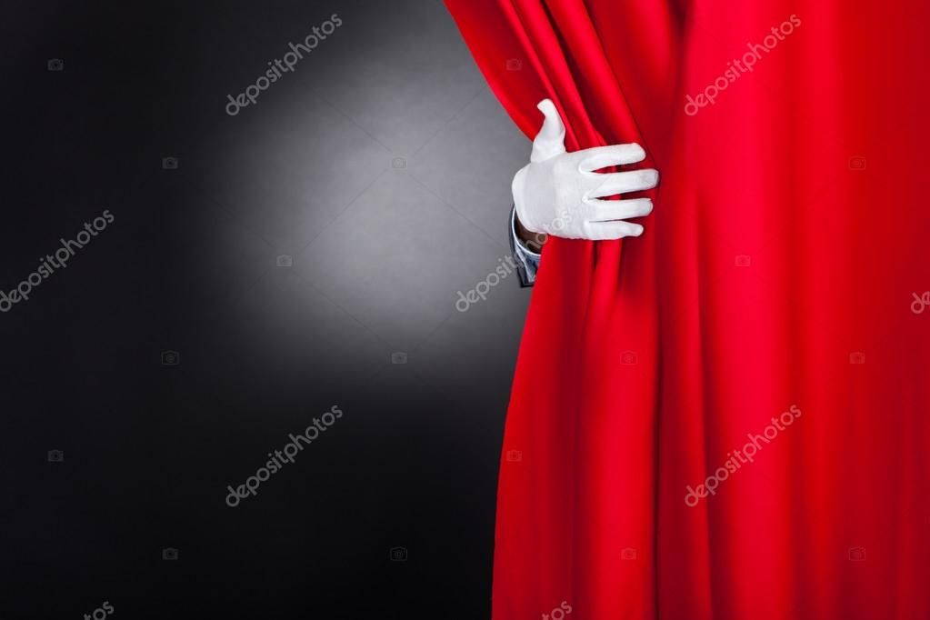 Magician Opening Curtain Stock Image Sponsored Opening