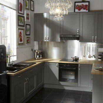 Meuble De Cuisine Gris DELINIA Nuage Leroy Merlin Idées Pour - Leroy merlin meubles cuisine pour idees de deco de cuisine