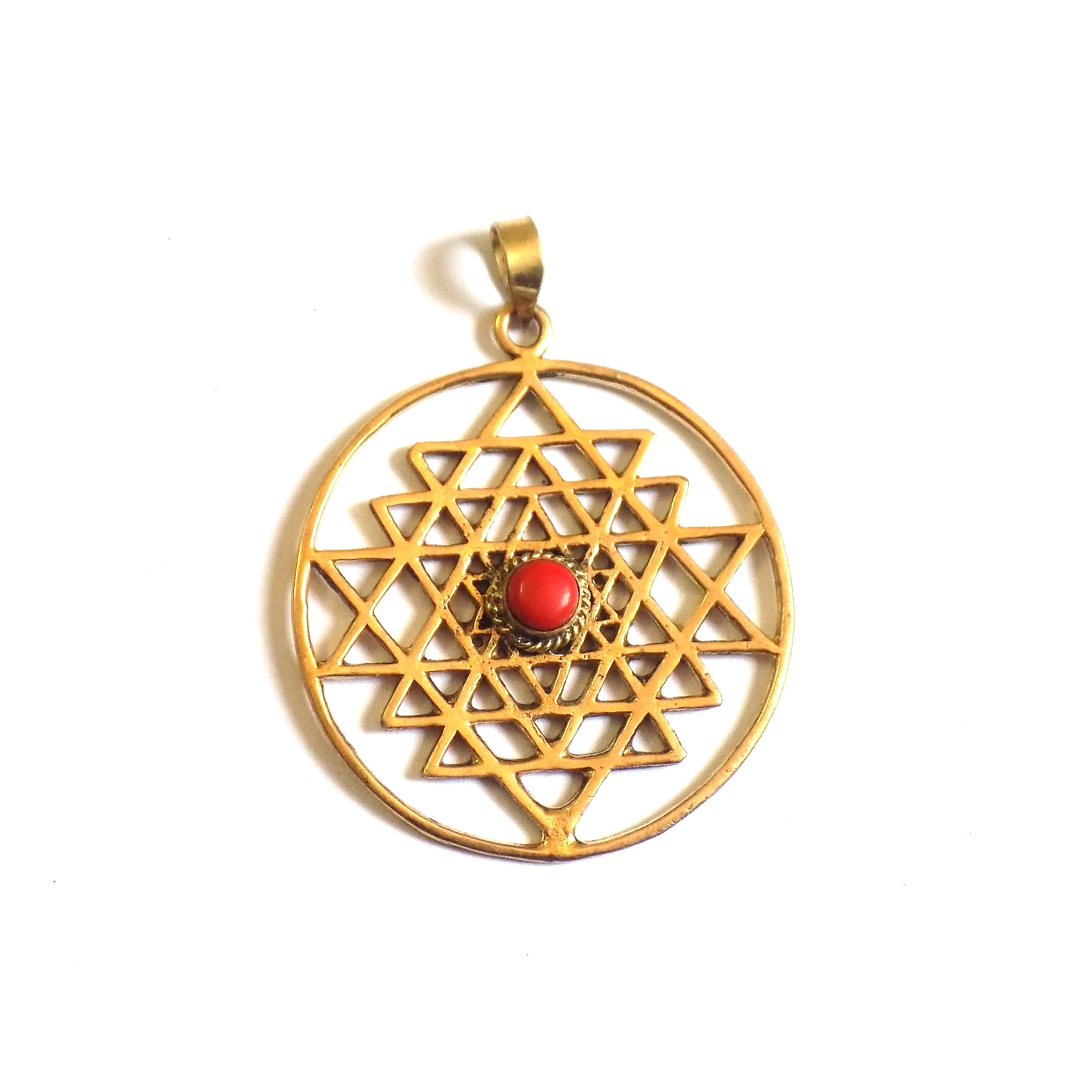 pc brass pendant round shape for women girls brass jewelry