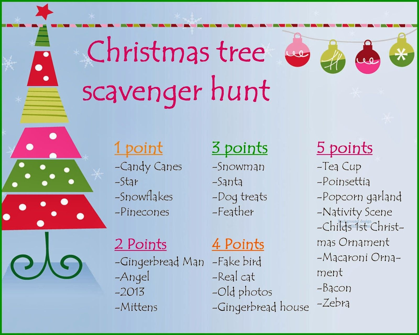 Christmas Scavenger Hunt  Google Search