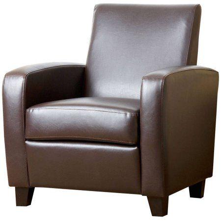 Devon & Claire Tulsa Bonded Leather Club Chair, Multiple Colors, Brown