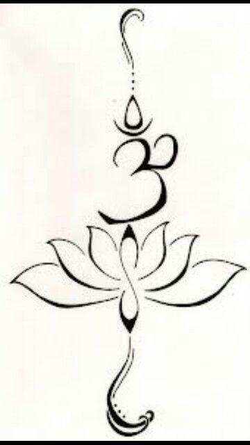 77b265a34 Yoga tattoo...lotus flower and om...love it | Tattoo ideas ...