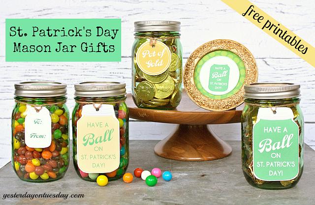 25 Mason Jar Ideas For St Patrick S Day Yesterday On Tuesday Jar Gifts Mason Jars Holiday Mason Jar
