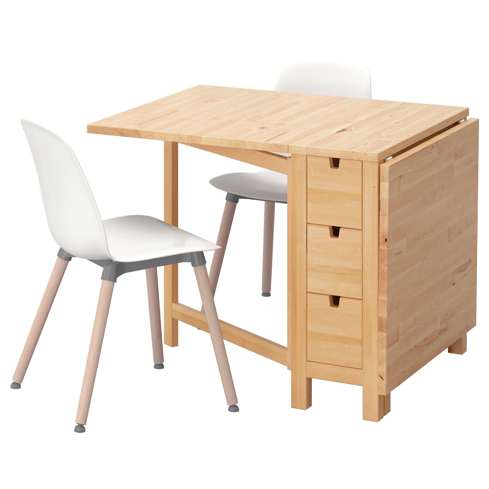 Norden Leifarne Tisch Und 2 Stuhle Birke Weiss Mit Bildern