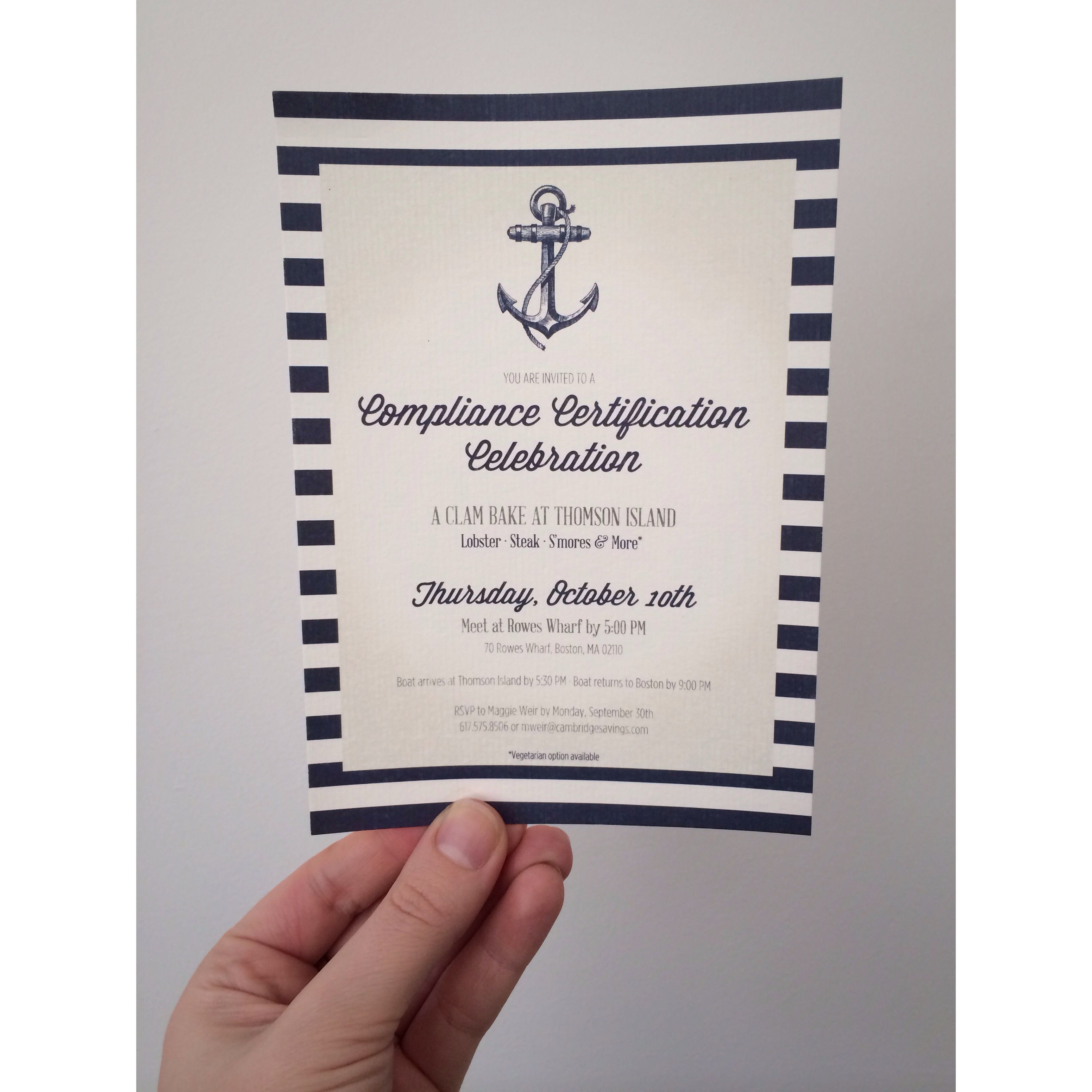 Nautical Themed Party invitation | Personal Projects | Pinterest ...