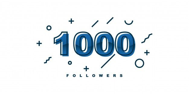 1000 followers design | Premium Vector #Freepik #vector #people #design #facebook #social-media