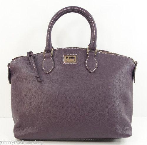Bourke Dillen Plum Bag Purple Dooney 2 Leather Satchel New Pebbled Om0nvNw8
