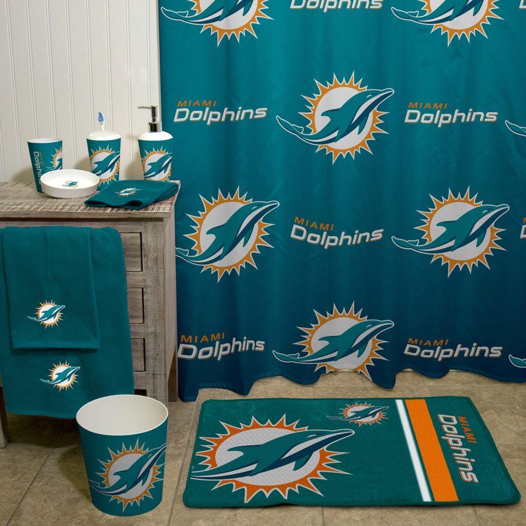 miami dolphins bathroom accessories