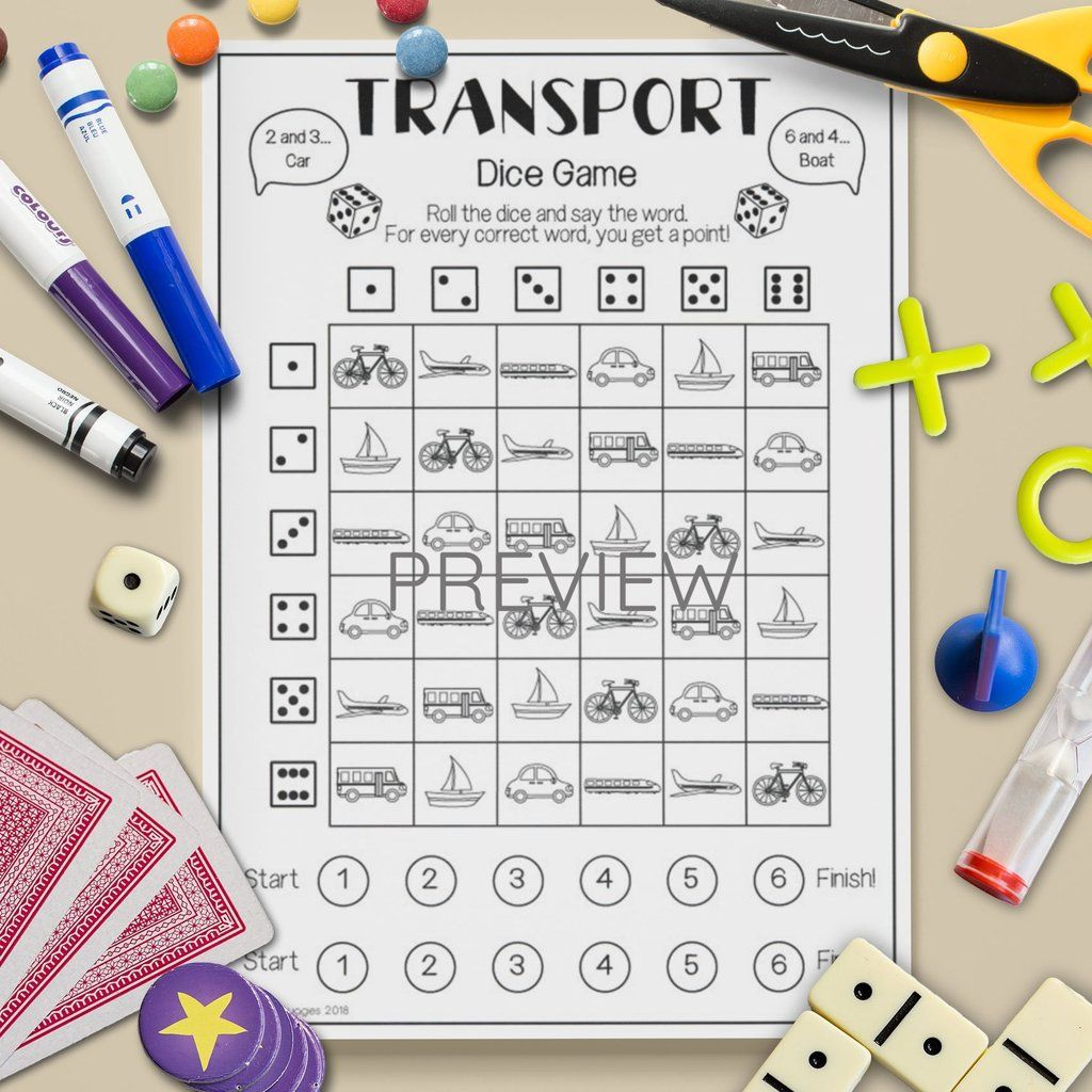 Transport Dice Game