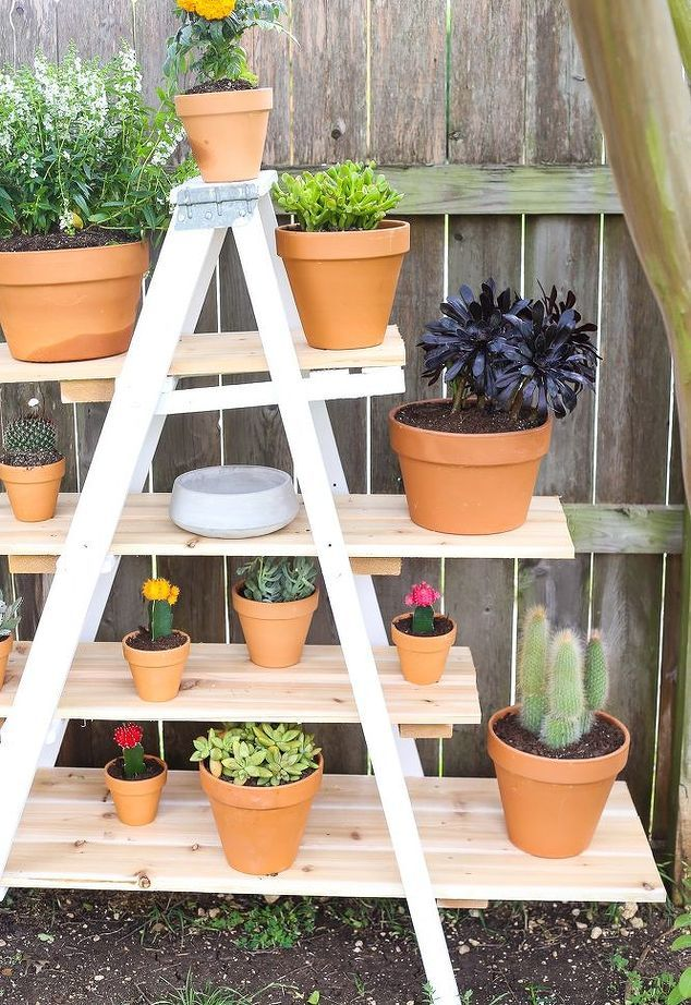 How To Build A Diy Ladder Plant Stand