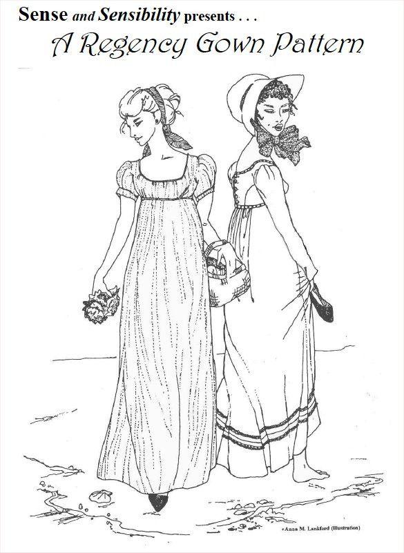 Dress Pattern - Regency Gown - Paper   Jane Austen Gift Shop