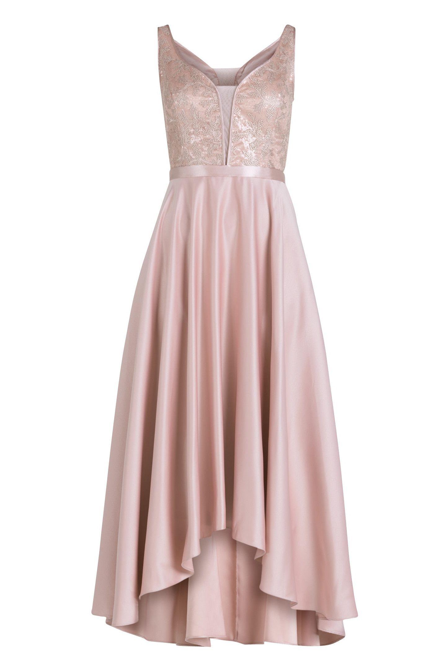Ausgefallenes Abendkleid im Vokuhila Style.  Vokuhila kleid