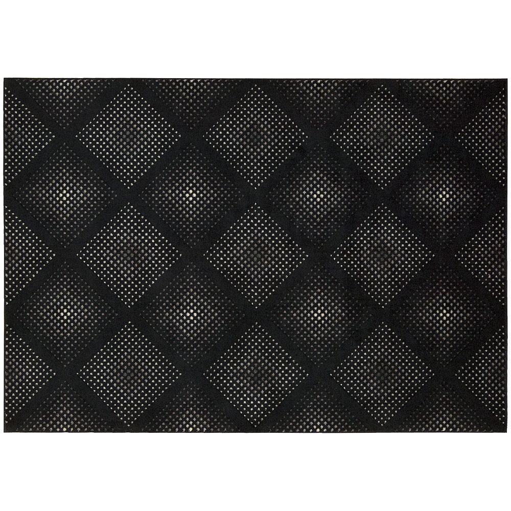 Nourison Utopia Geometric Diamond Rug, Black
