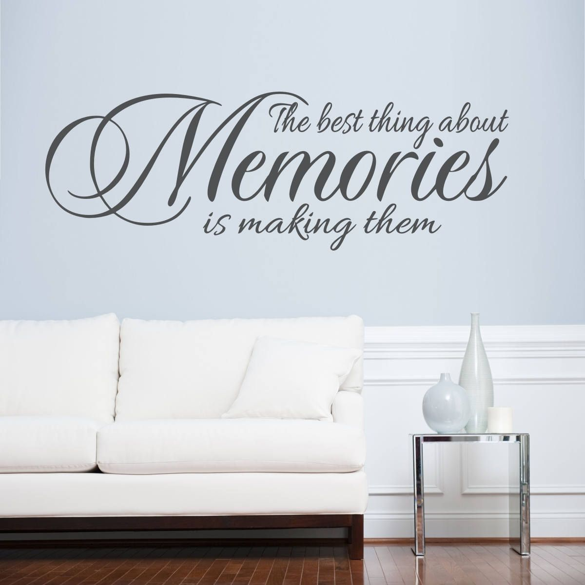 Making Memories Large Wall Quote Decal Removable Vinyl Wall