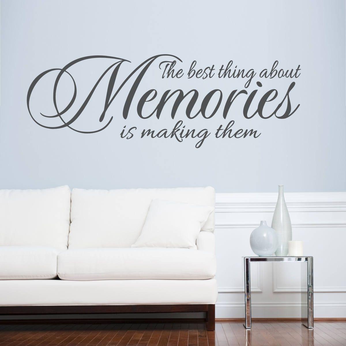 Lasting Memories Decor, Living Room Wall Decal, Living Room Wall Art ...
