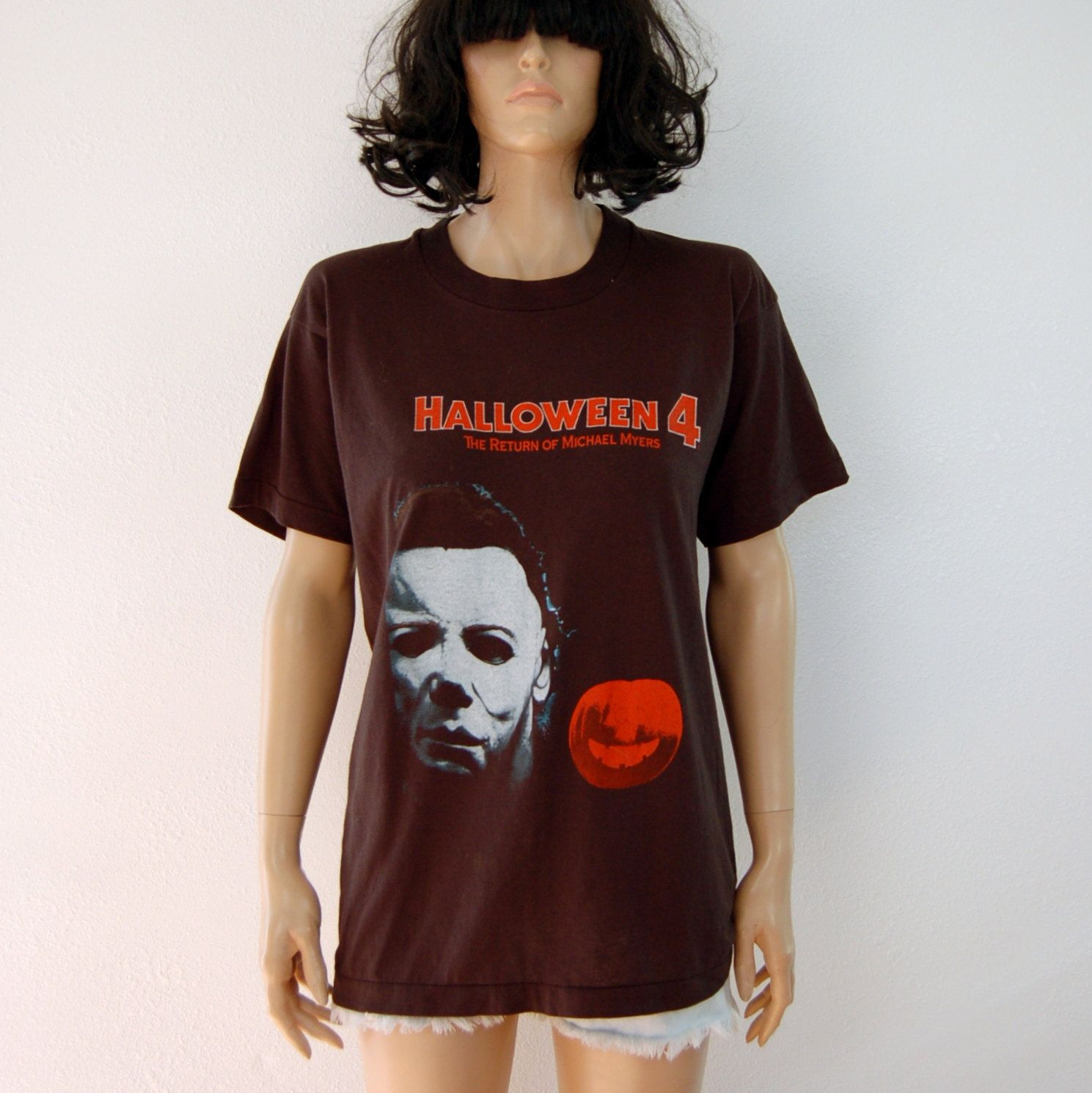 80s Vintage Michael Myers Halloween 4 Horror Film T Shirt