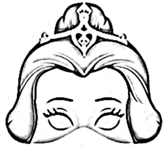 Mascaras de princesas para imprimir, pintar y recortar | EDUCACIÓ ...