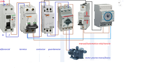 Esquemas el ctricos motor piscina monofasico con for Reloj programador piscina precio