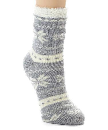 Look at this #zulilyfind! Heather Gray Fair Isle Snowflake Slipper ...
