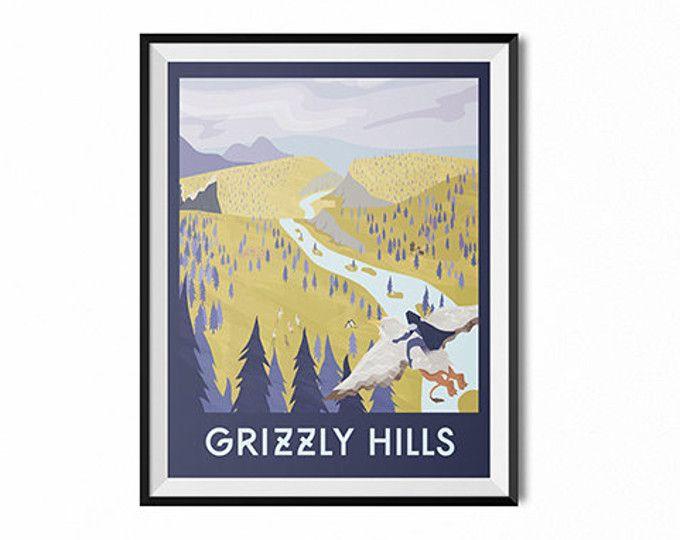 Travel poster, gift for gamer, retro travel print, travel wall art ...