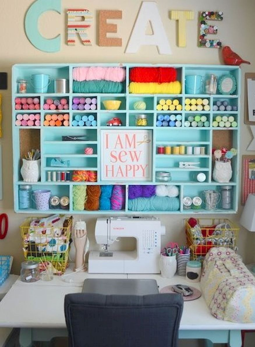 40 Art Room And Craft Room Organization Decor Ideas Artmyideas Small Craft Rooms Craft Room Design Craft Room Decor