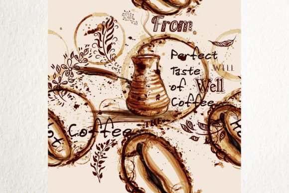 Photo of Coffee Vector Pattern Illustration (Graphic) by fleurartmariia · Creative Fabrica
