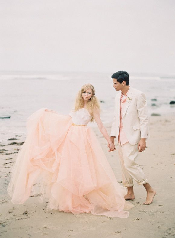 ab9103c5d1b Pink wedding dresses inspirations. White and pink color match well with  each other