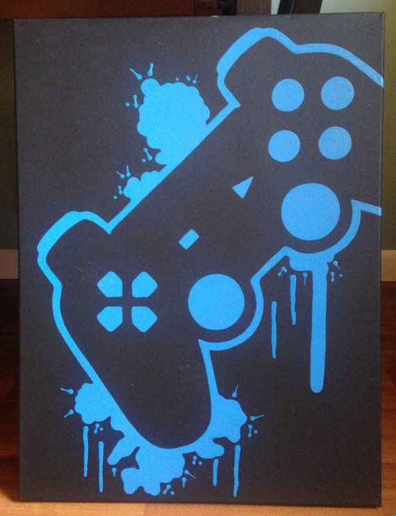 Playstation Video Game Controller Painting Video Game Art Etsy Video Game Decor Custom Wall Art Game Controller Art