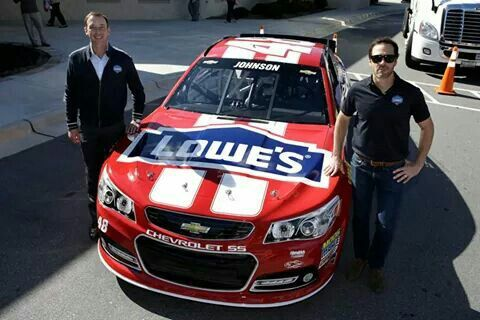 Jimmie Johnson and Chad