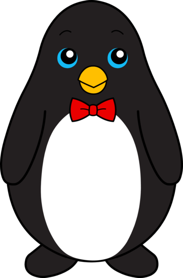 d4d92b81a4c Cute Black Penguin With Red Bow Tie