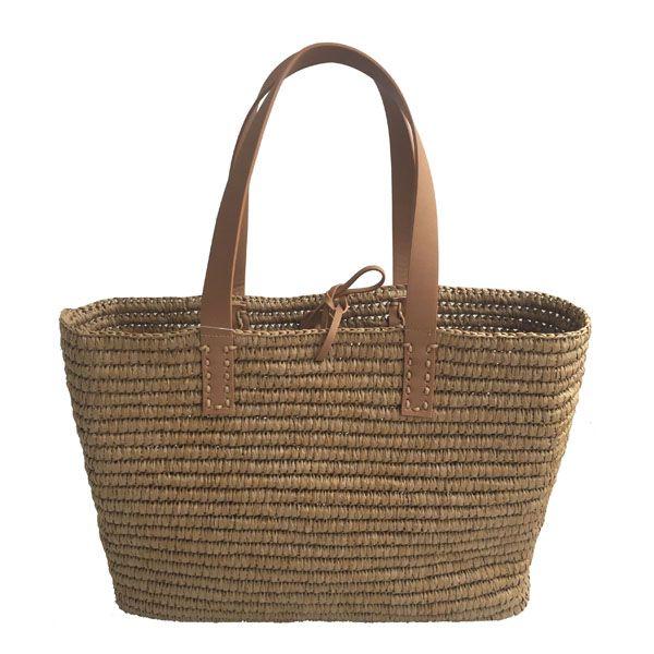 Square straw bag