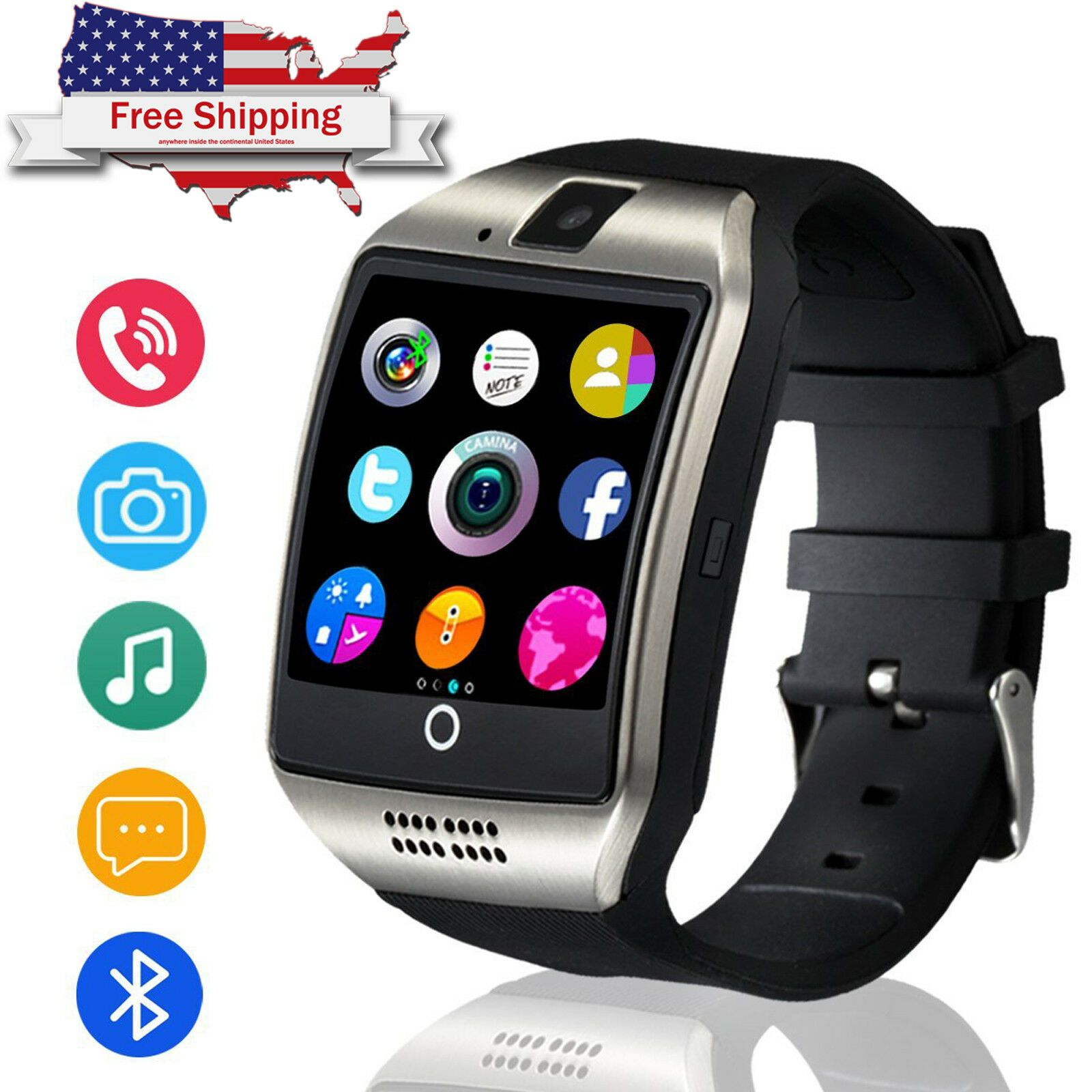 Bluetooth Smart Watch Touch Screen For Android Samsung S8