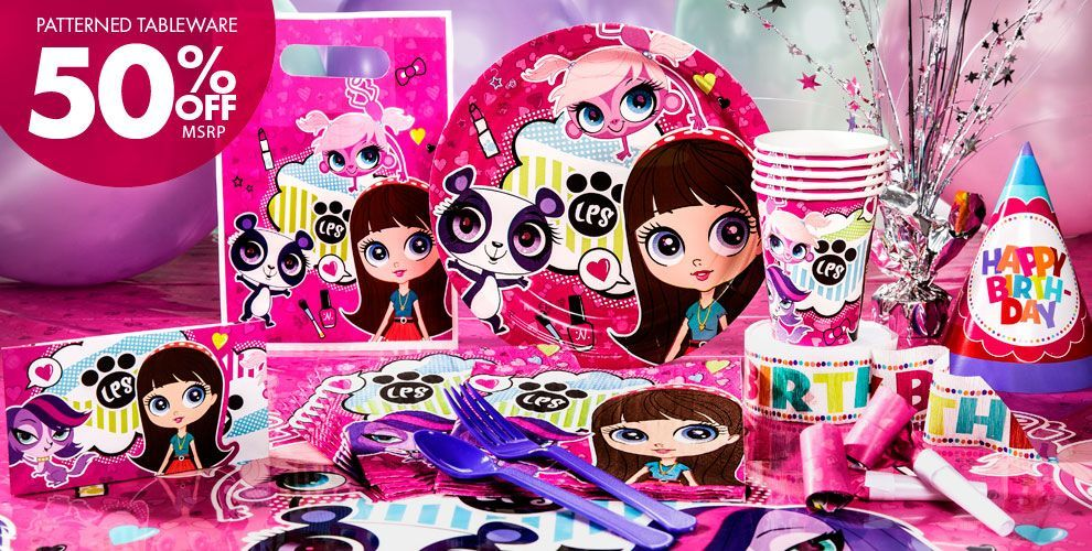 Littlest Pet Shop Party Supplies | birthday party ideas for T/ U ...