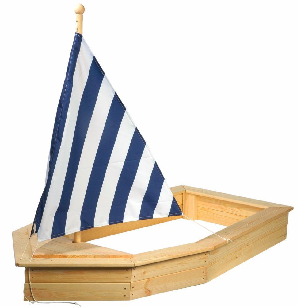 holz sandkasten schiff boot mit dach sandkiste buddelkiste. Black Bedroom Furniture Sets. Home Design Ideas