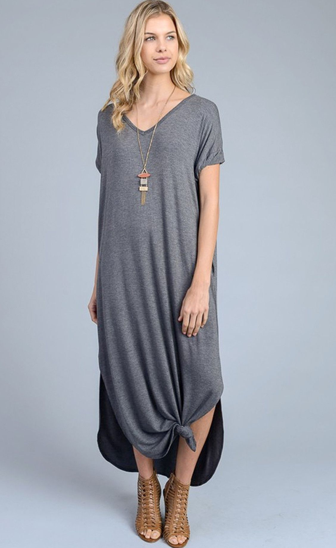528460a6d709 Abigail Charcoal T-Shirt Maxi Dress - Find the perfect dress for any  occasion at ShopLuckyDuck.com