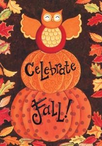 Celebrate Fall Garden Flag at Seasons by Design specialty shop, 2605 Ford Drive, New Holstein, WI 53061. 920-898-9081 follow us on Facebook seasonsbydesigngifts@yahoo.com