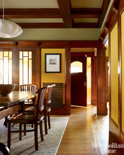 Craftsman Dining Room. Arts And Crafts Period