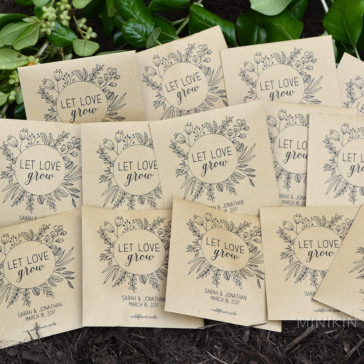Customized seed packet favors by Minikin. | someday<3 | Pinterest ...