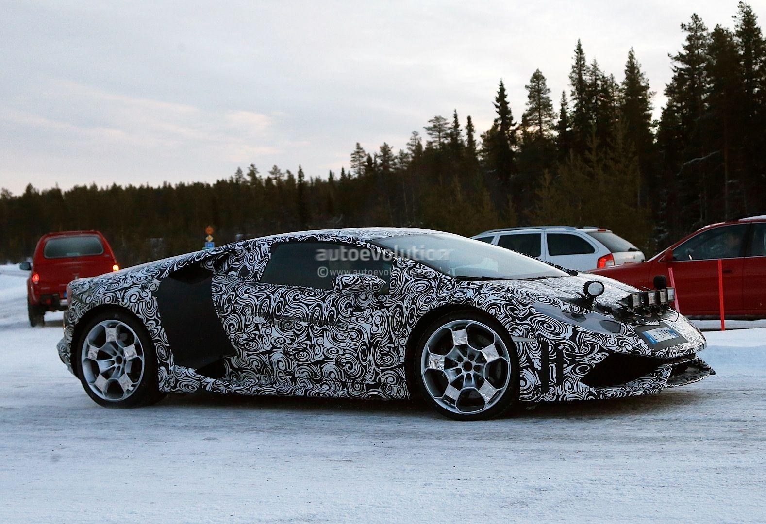Lamborghini Huracan (Gallardo Successor) Begins Winter Testing - photo ... #lamborghini lamborghini