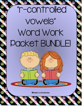 "This is a bundle of my 3 ""r-controlled vowel"" Word Work Packets! This bundle includes the following activities for the r-controlled vowels ar, or/ore, er, ir, and ur!"