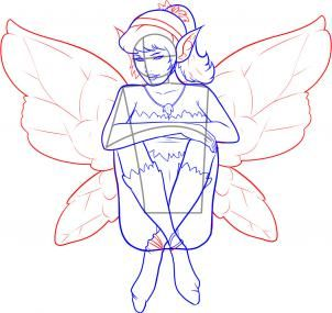 how to draw a sitting fairy  tips  tidbits art/drawing