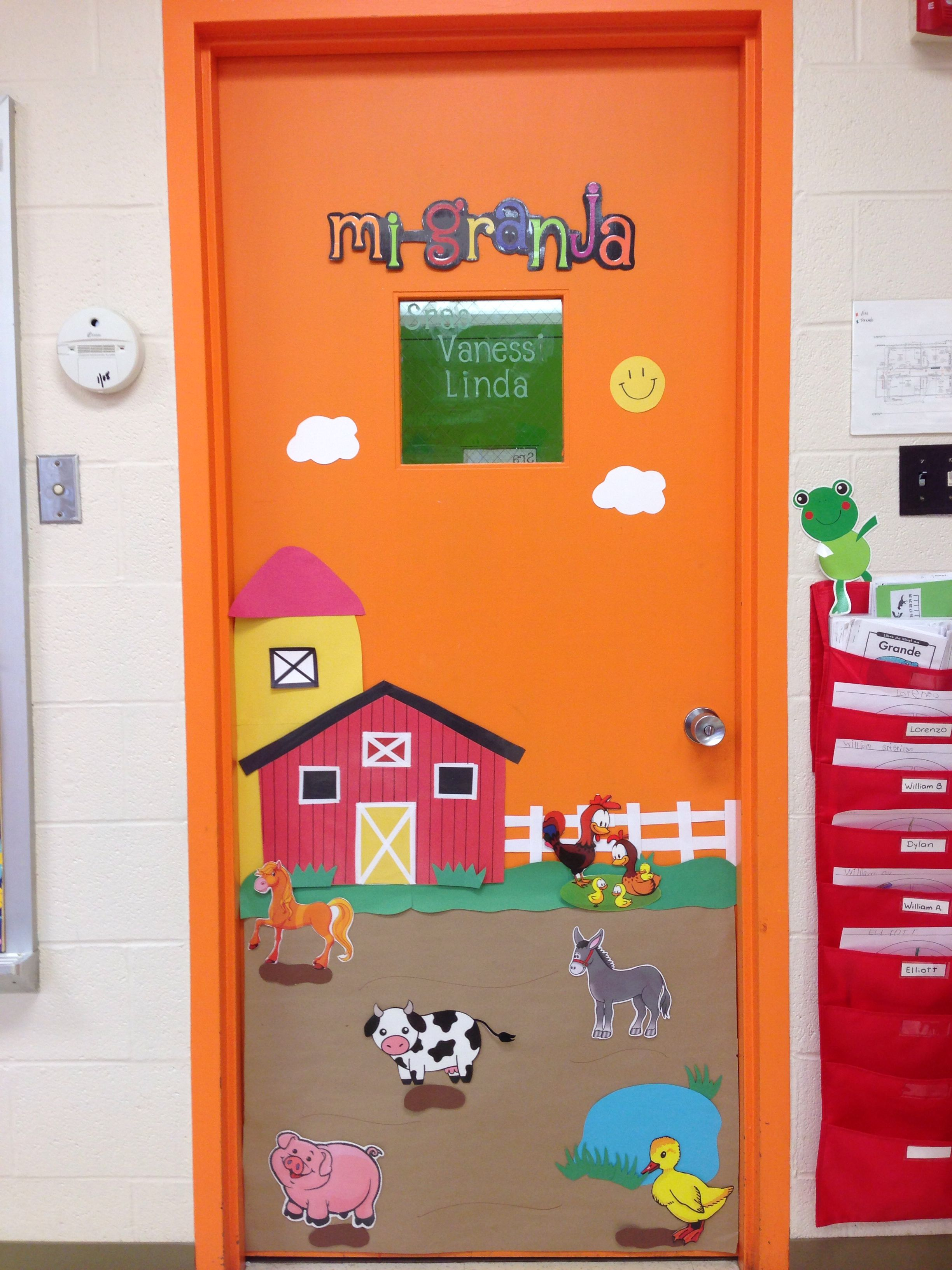 Theme De Decoration Pour Creche Door Decor For Farm Animals Theme Farm Animals