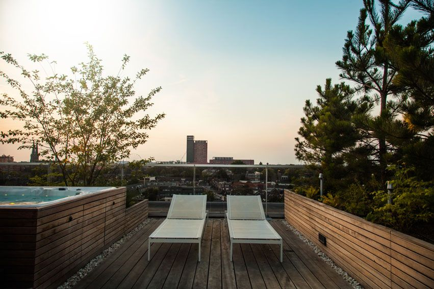 Ongekend Ontwerp dakterras bij penthouse   Rooftop terrace design penthouse XZ-09