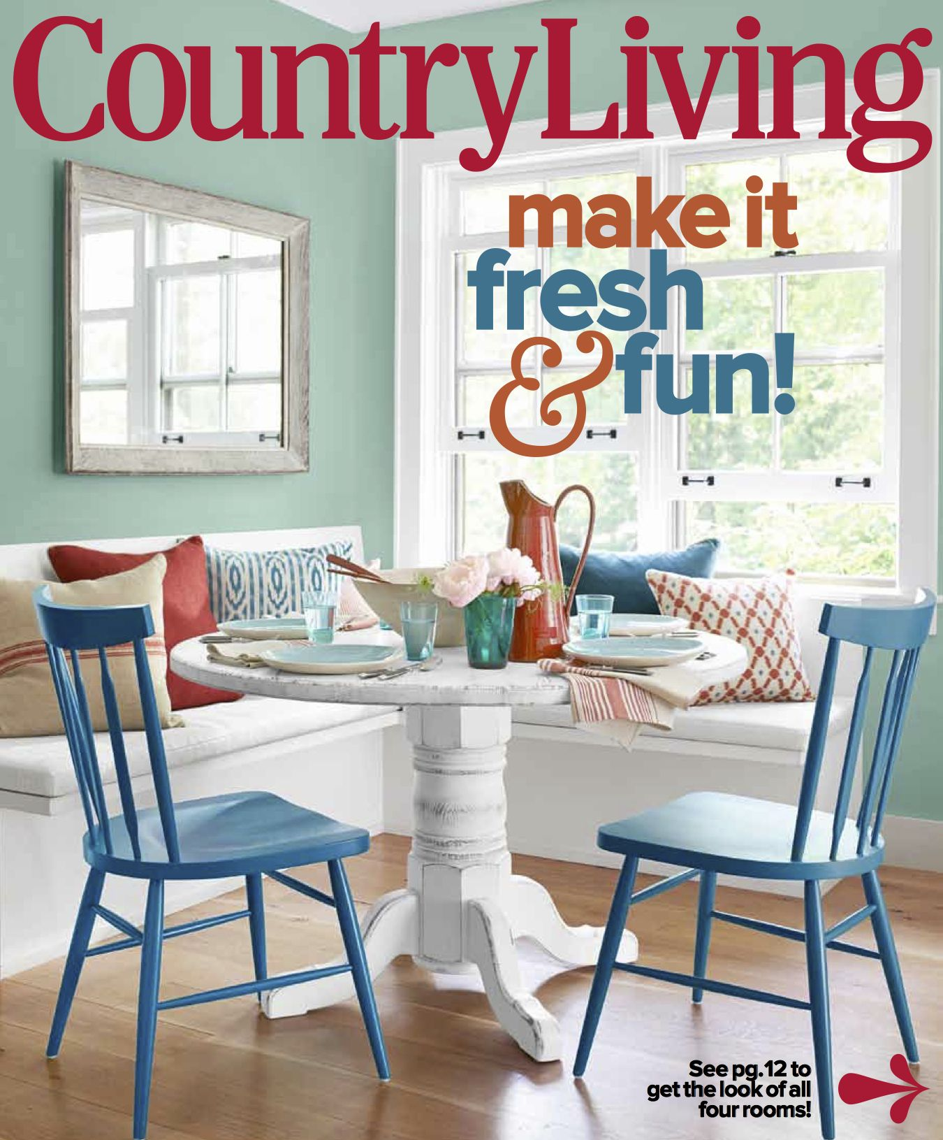 Our round table on cover of country living magazine country