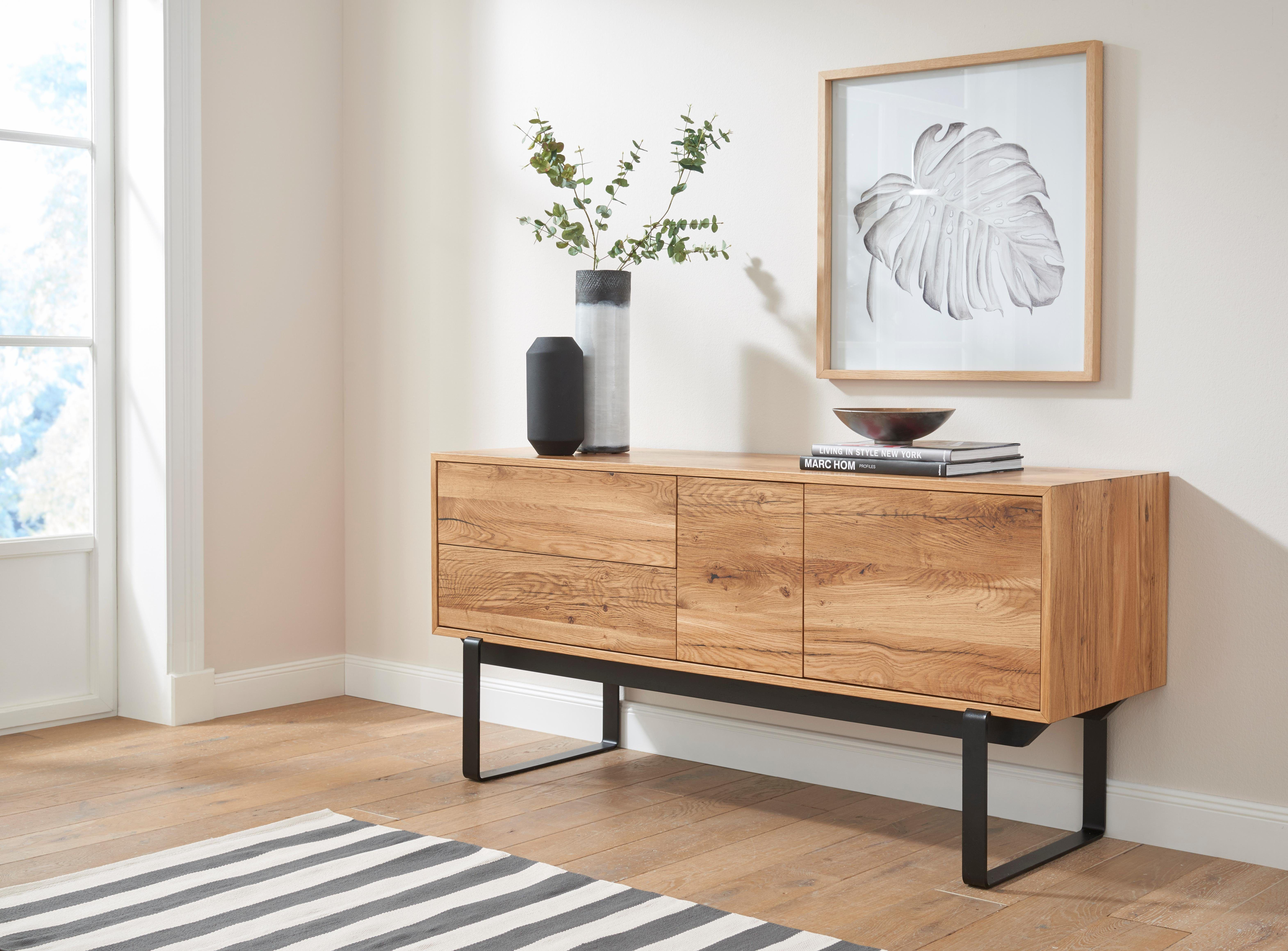 Highboard Wohnzimmer ~ Andas sideboard beige »factory« push to open funktion jetzt