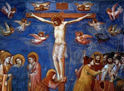 Giotto di Bondone  (1266 - 1337) La Crucifixión  1305