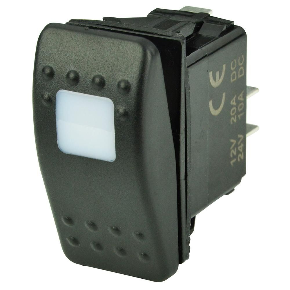 BEP SPST Contura Switch - 1-Amber LED - OFF/ON | Amber, Pressure ...