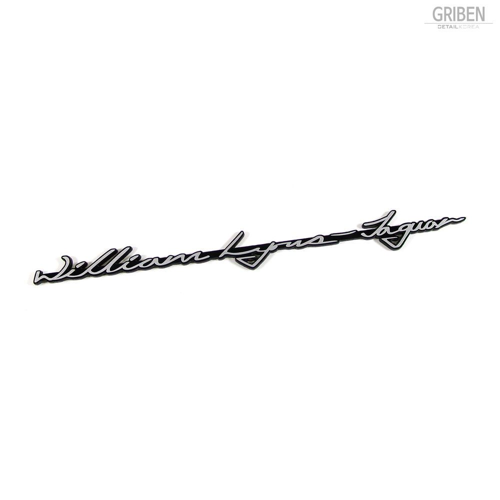 Griben Car Emblem Slogan Silver Acrylic Badge 30178a Founder Name For Jaguar