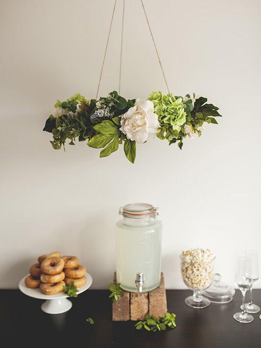 Diy Tutorial Hanging Floral Chandeliers Floral