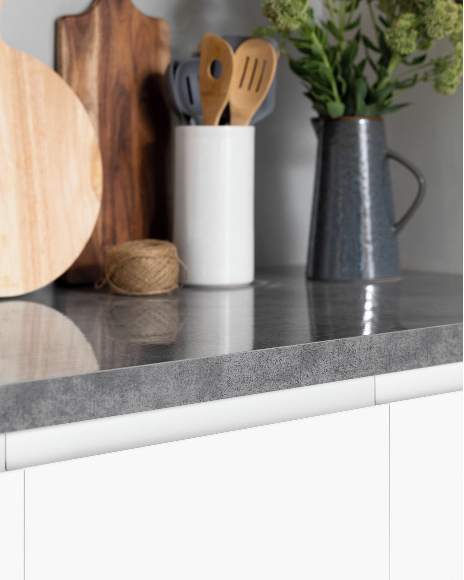today we re shining a spotlight on our concrete look enoki benchtop perfect if you are hoping on kaboodle kitchen enoki id=21932